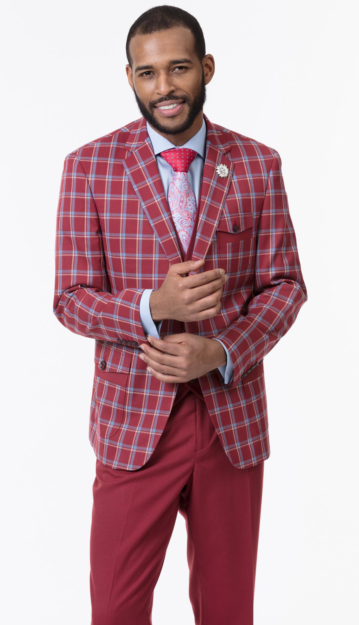Mens Suit By EJ Samuel M2714-WI