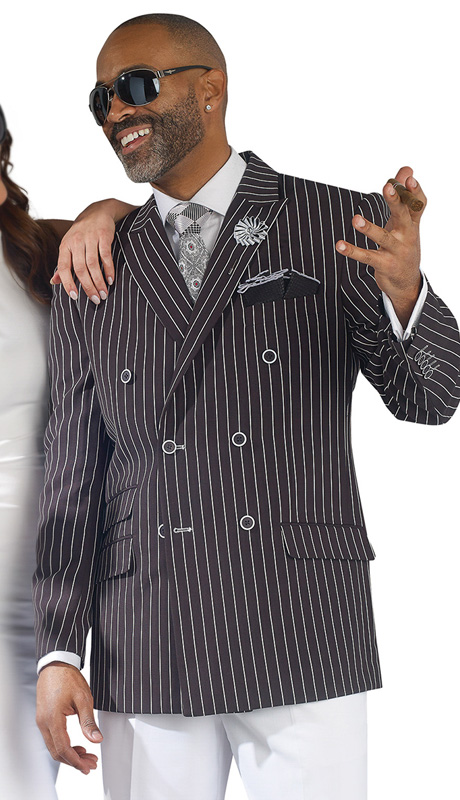 Mens Suits By EJ Samuel M2707-BLK