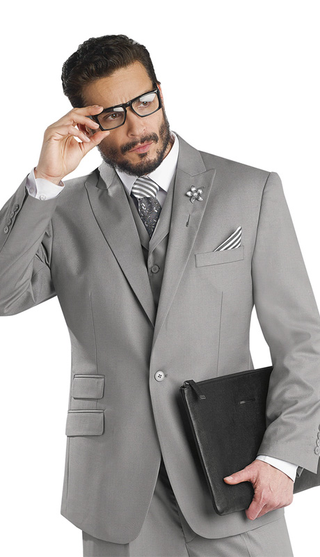 Mens Suits By EJ Samuel M2683-GRA-CO