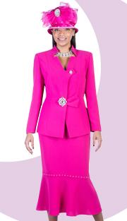 Giovanna 0586-F  ( 2pc Peachskin Ladies Suit With Rhinestones Embellishments )