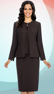Giovanna 0714 ( 3pc Jacket With Pleated Detail Around Neckline, Cami And Skirt )