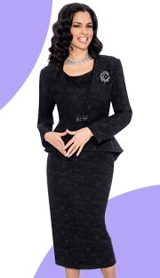 Giovanna 1031-BLK ( 3pc PeachSkin Giovanna Womens Suit )