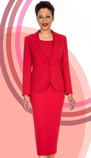 Giovanna 0823-RE ( 3pc Peachskin Womens Suit With Jacket, Cami And Skirt )