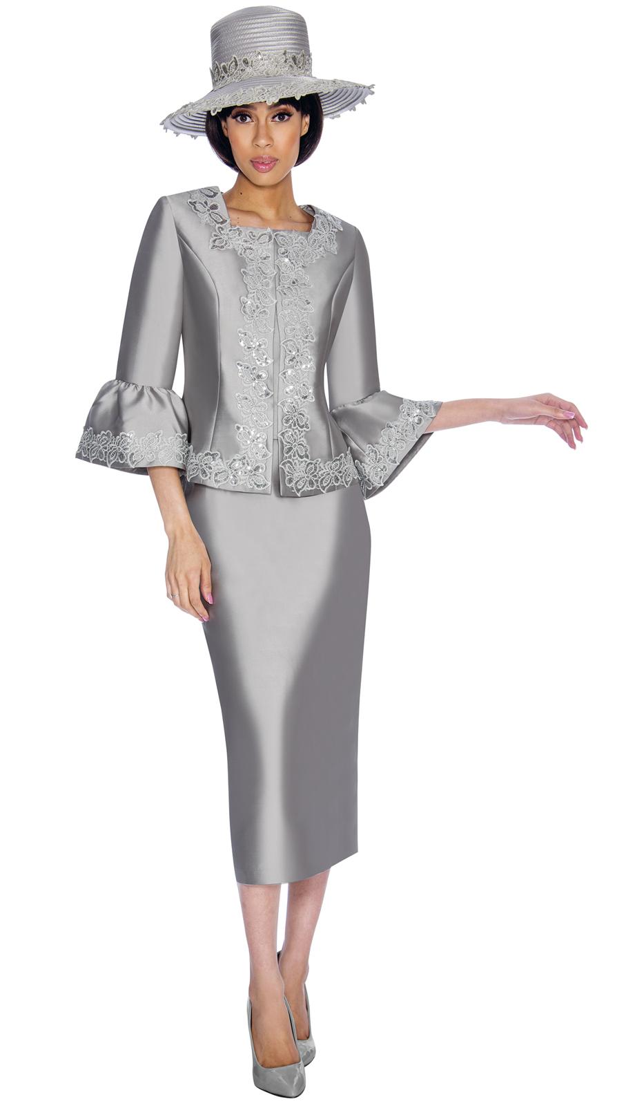 Gmi Suit 7042 2 Piece Women S Suit With Lace Applique Square