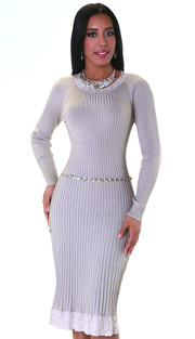Kayla Dress 5146 ( 1pc Knit Dress With Silver Belt )