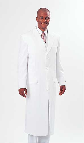908V-F ( 4Pcs Long Coat, Suit Jacket, Vest And Pants )