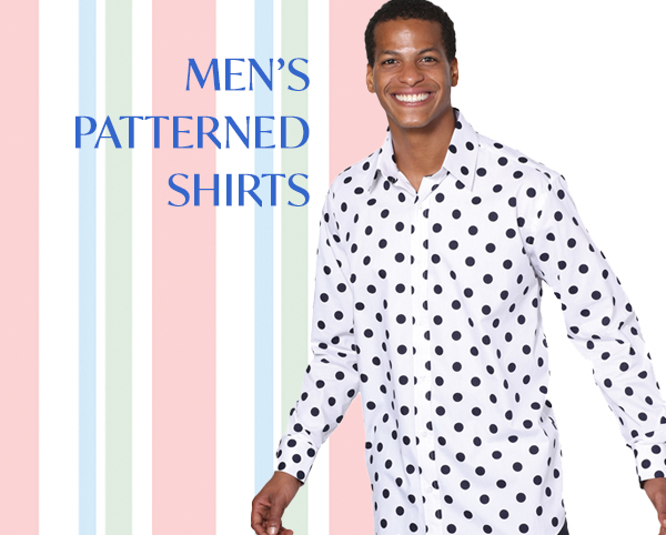 Mens Patterned Dress Shirts