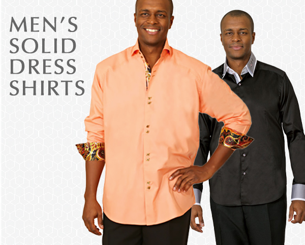 Mens Solid Dress Shirts