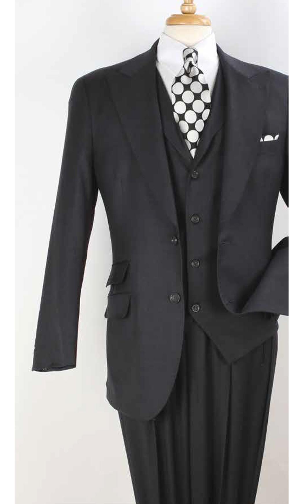 Men/'s Wool Feel Fashion Suit 4 hidden button,W//triple pleated back bk,brown 5605