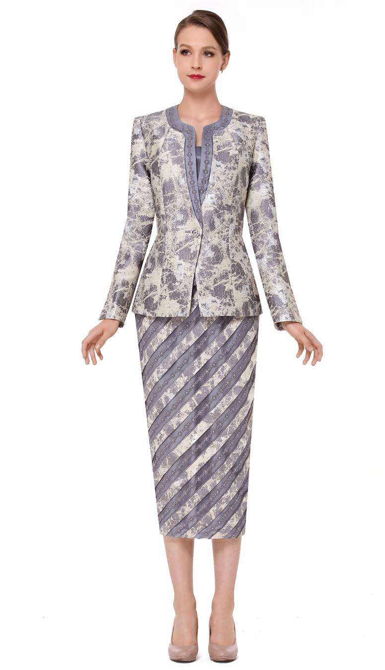 Serafina Suit 3829-SIL