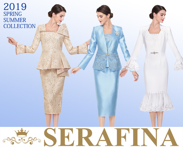 Serafina Suits and Dresses Spring and Summer 2019