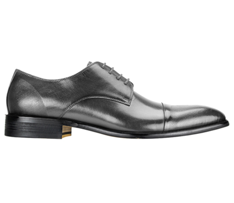 Mens Shoes By Steven Land SL0005-GRA ( Genuine Leather, Lace Up, Cap Toe Oxford With Ombre Effect, Made By Hand )