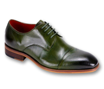 Mens Shoes By Steven Land SL0005-OL ( Genuine Leather, Lace Up, Cap Toe Oxford With Ombre Effect, Made By Hand )