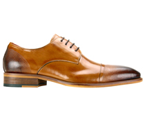 Mens Shoes By Steven Land SL0005-TA ( Genuine Leather, Lace Up, Cap Toe Oxford With Ombre Effect, Made By Hand )