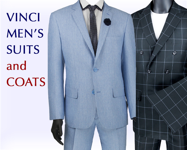 Vinci Mens Suits and Coats