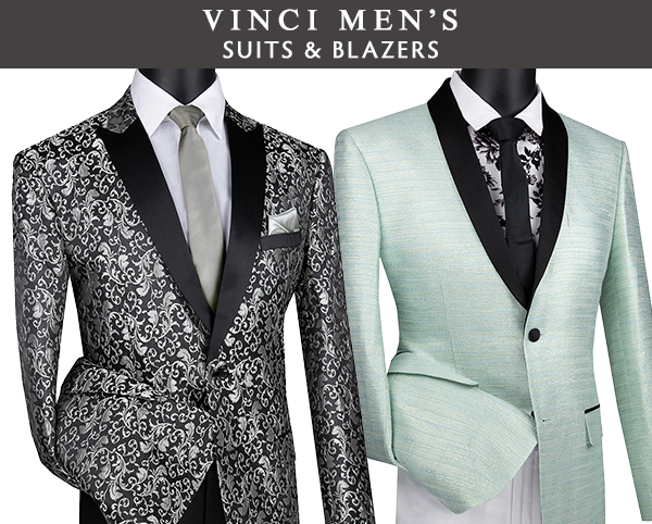 Vinci Mens Suits and Blazers