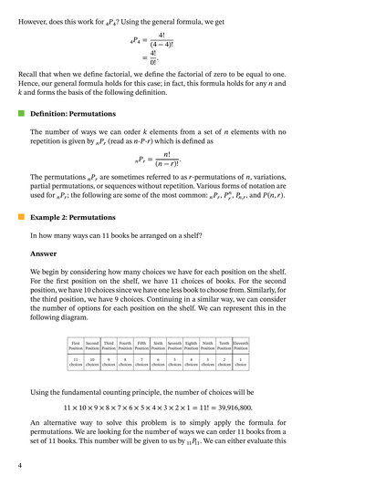 Lesson: Counting Using Permutations | Nagwa