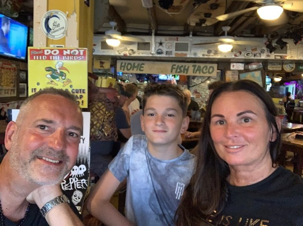 Carl's Allen's Family at Sandbar Sports Grill