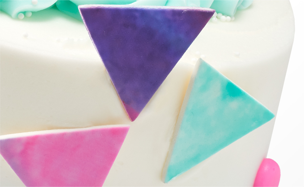 Side Cake with Triangles
