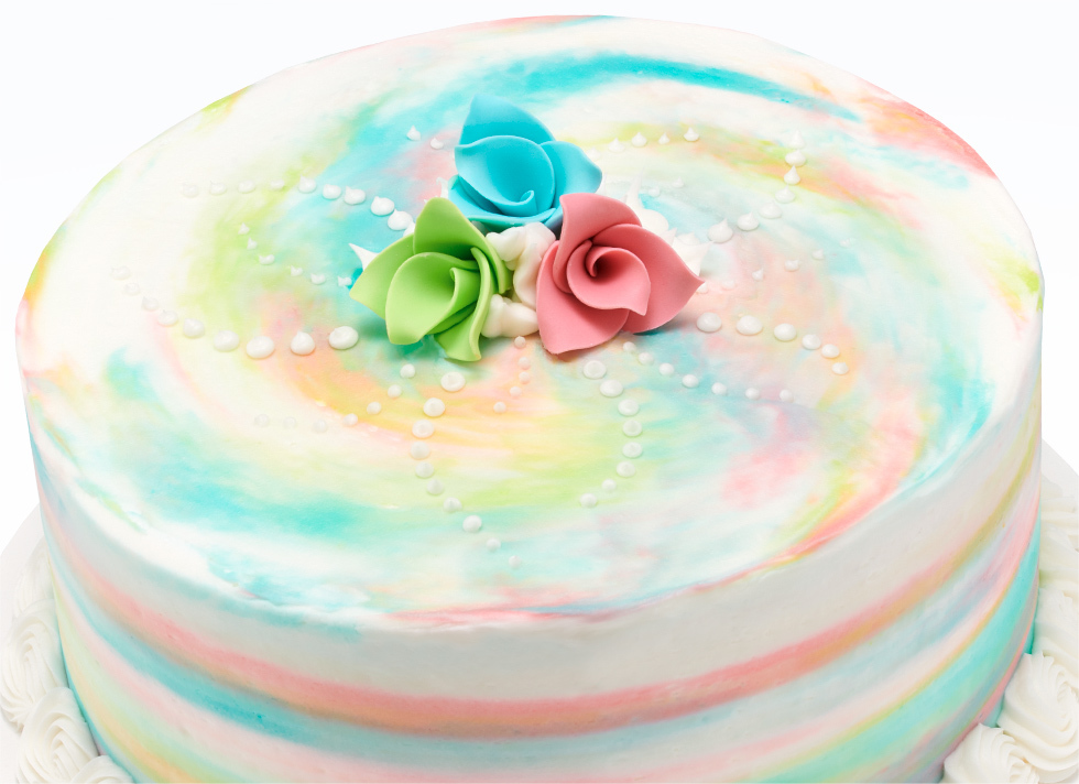 Dreamy Watercolor and Origami Flowers Cake