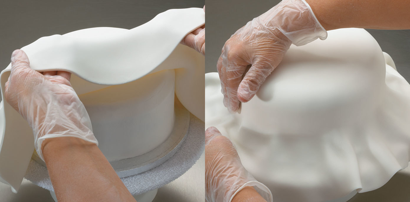 How To Cover A Round Cake With Fondant Cakes Com