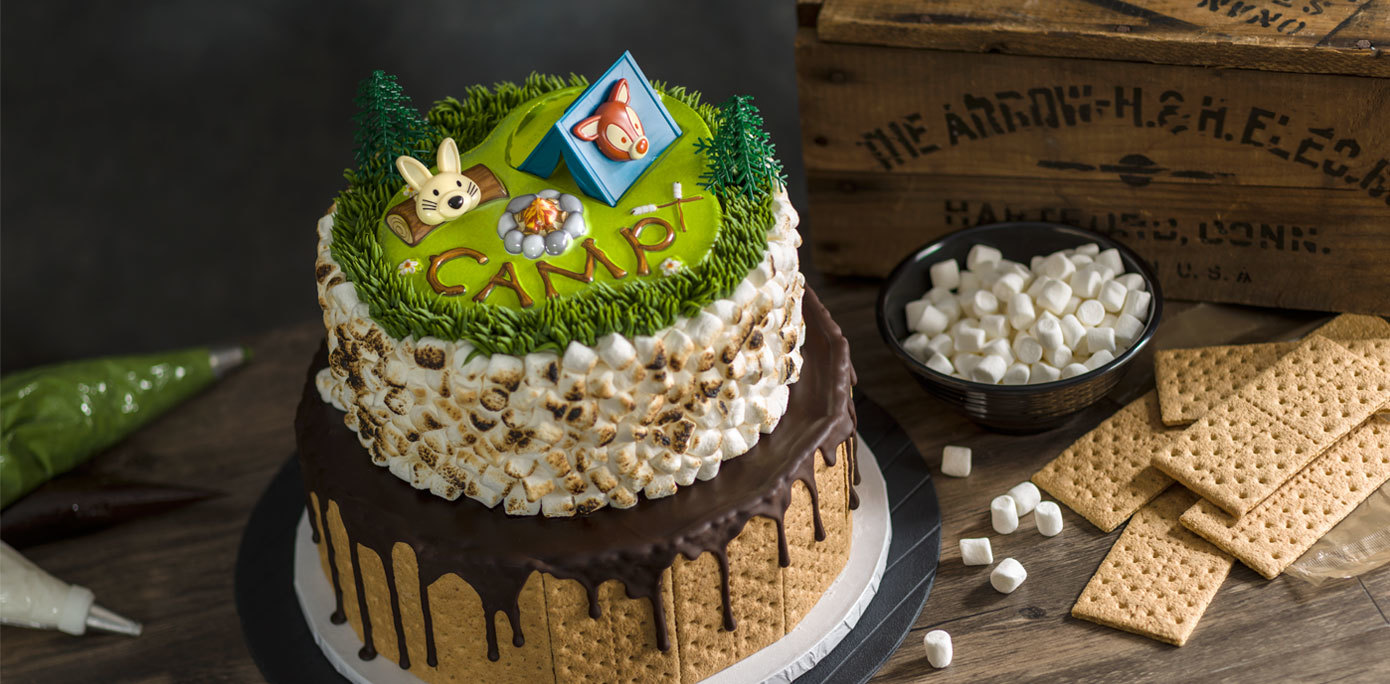Edible Camping Cake Decorations