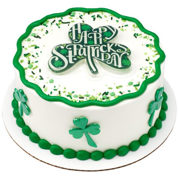 3 Leaf Clover Cake Design