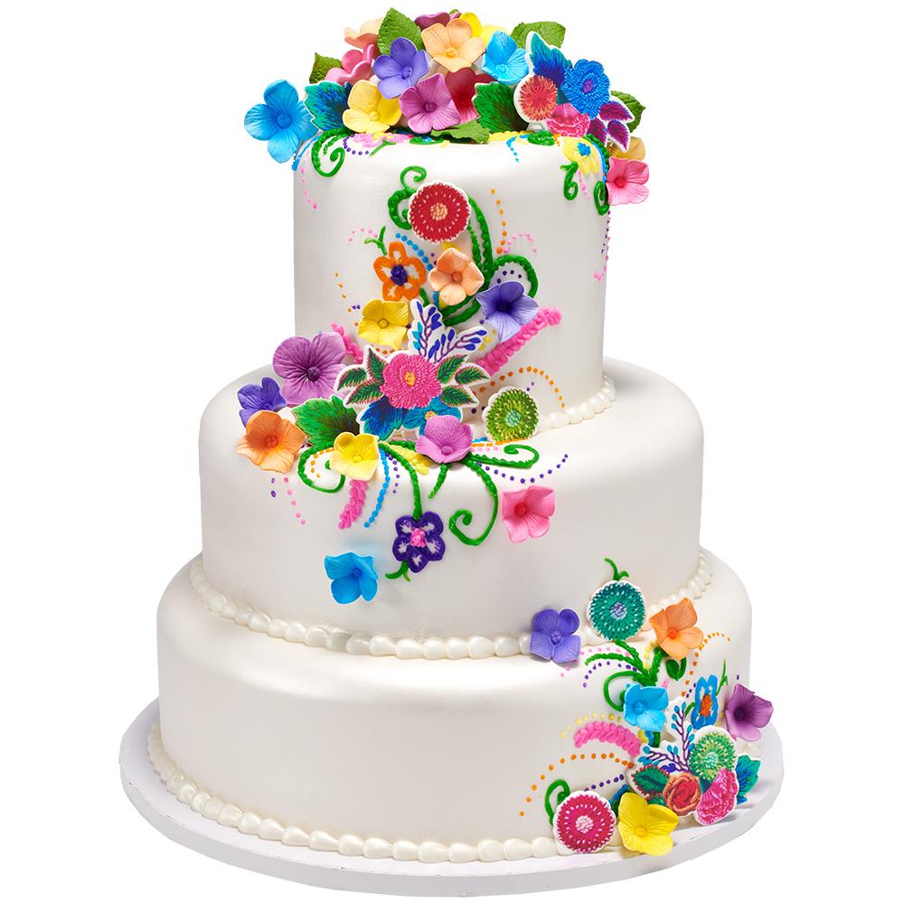 Alluring Applique Wedding Cake Design
