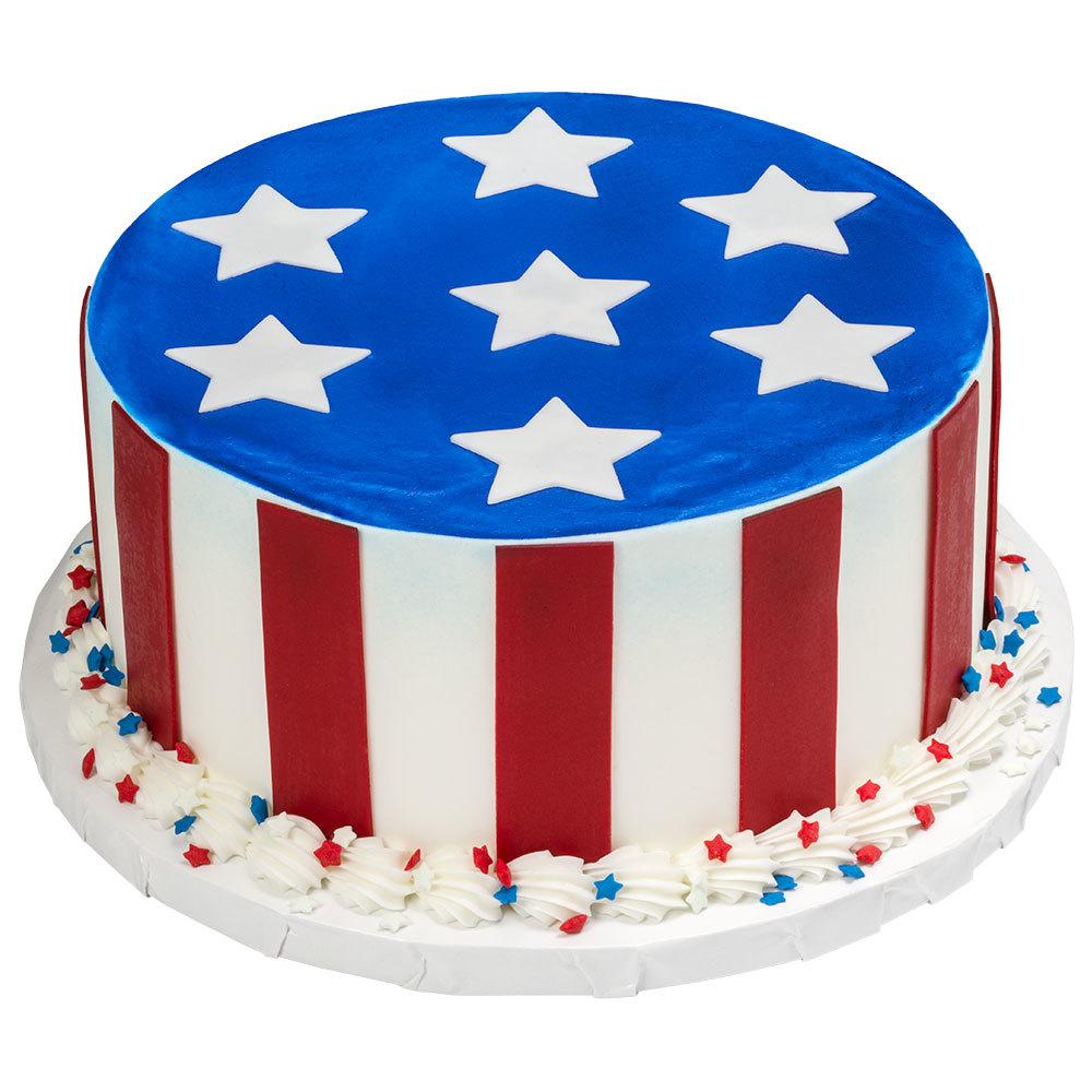 "Americana Stars 8"" Round Cake Design"