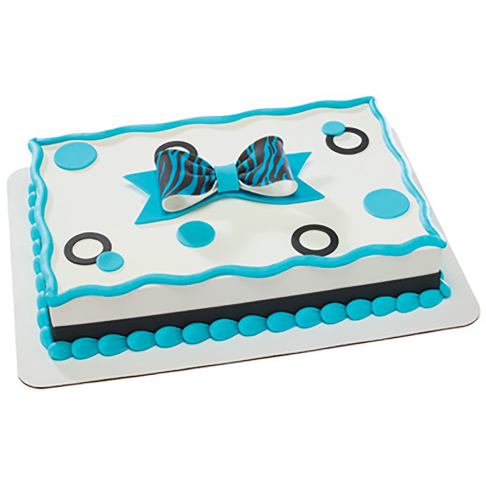 Animal Print DecoShapes and Gum Paste Quarter Sheet Fondant Cake