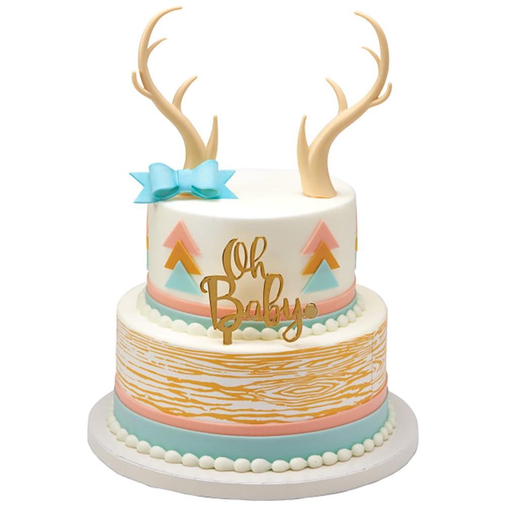 Baby Shower Antler Cake Design