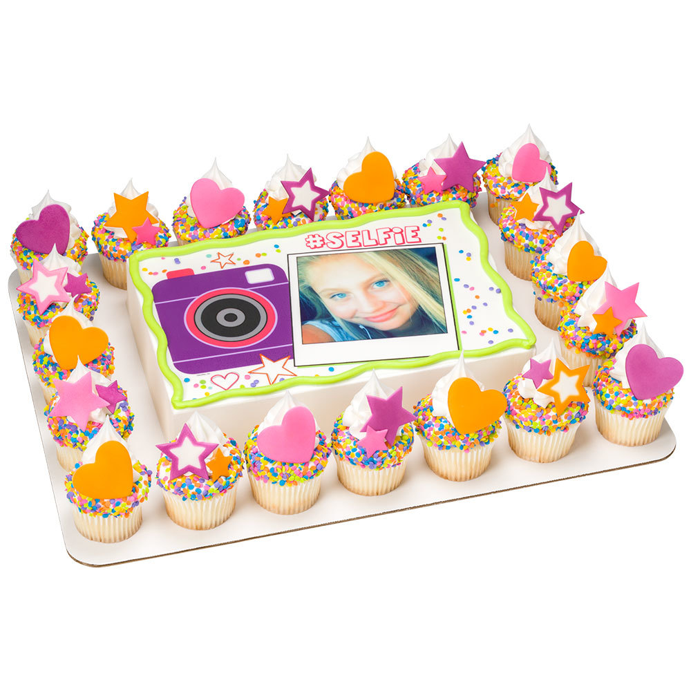 Back to School Selfie Sheet Cake Design