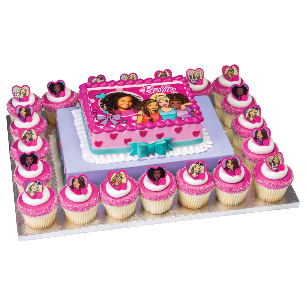 Barbie Cake and Cupcake Platter