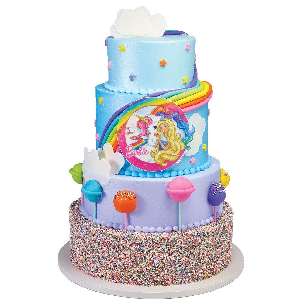 Barbie Dreamtopia PhotoCake® Image Stacked Cake Design