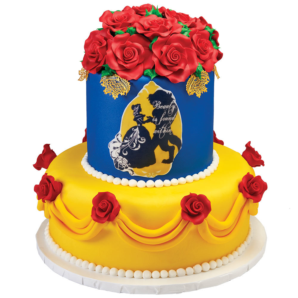 Belle - Beautiful as a Rose Stacked Cake Design