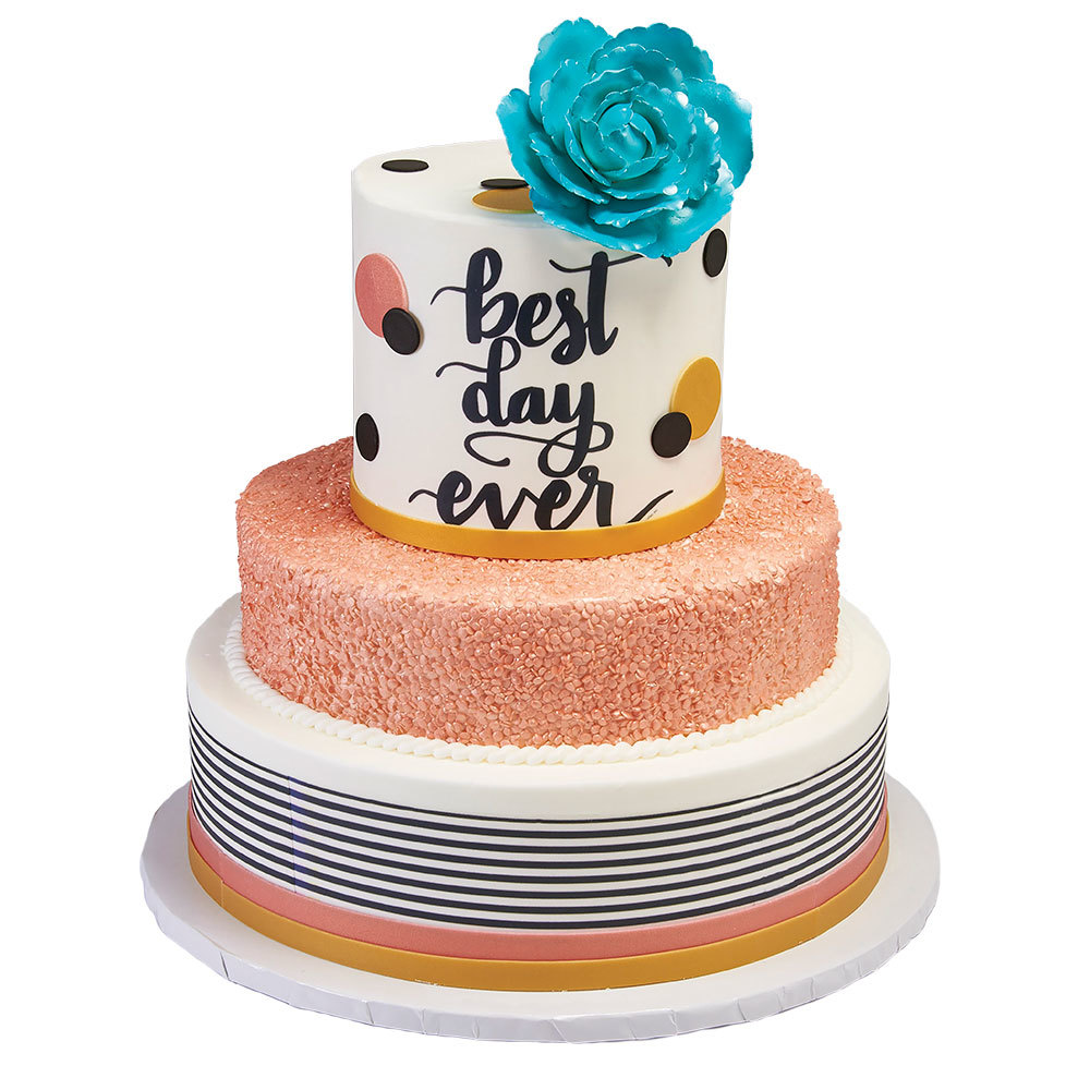 Best Day Ever Stacked Cake Design