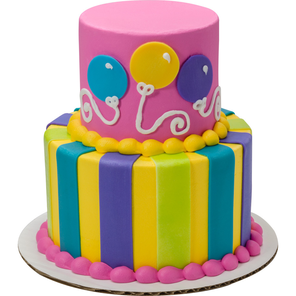 Birthday Balloon Brights Cake