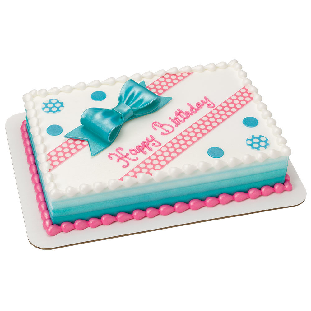 Remarkable Birthday Bliss Decoshapes And Gum Paste Bow 1 4 Sheet Cake Design Personalised Birthday Cards Veneteletsinfo