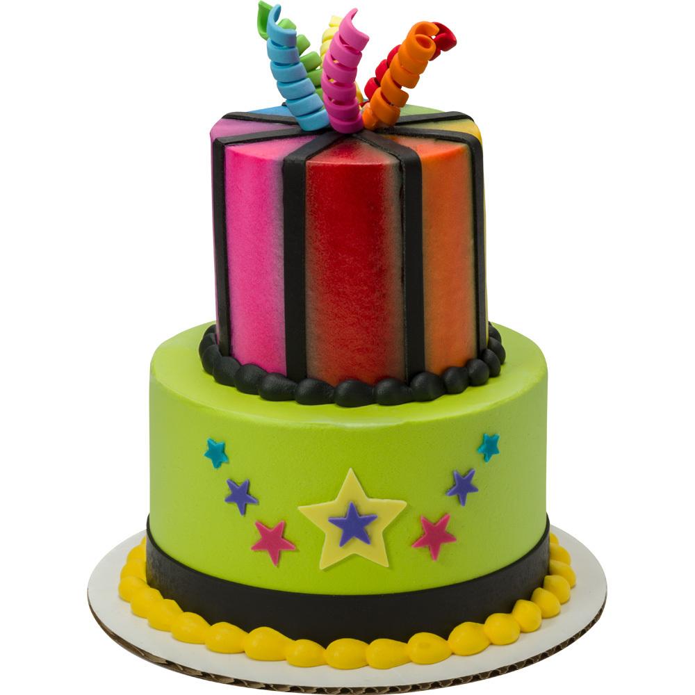 Birthday Brights Round Stacked Cake