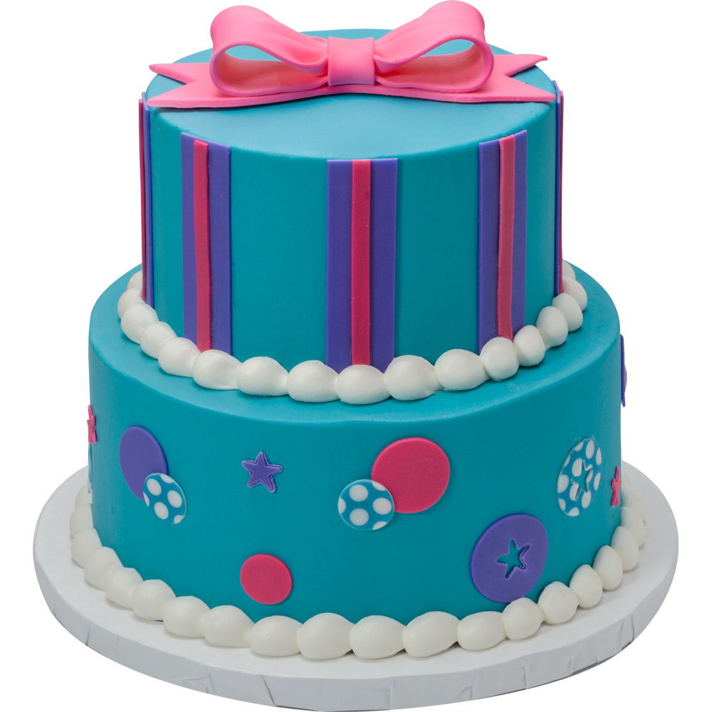 Birthday Celebration Round Stacked Cake Design