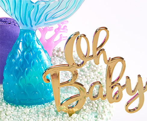 Mermaid Baby Cake Decoration