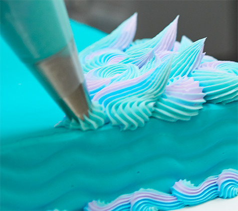 Mermaid Cake Decorating Piping