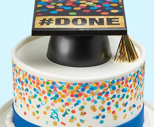 Grad Hat Cake Design for Cake Decorators