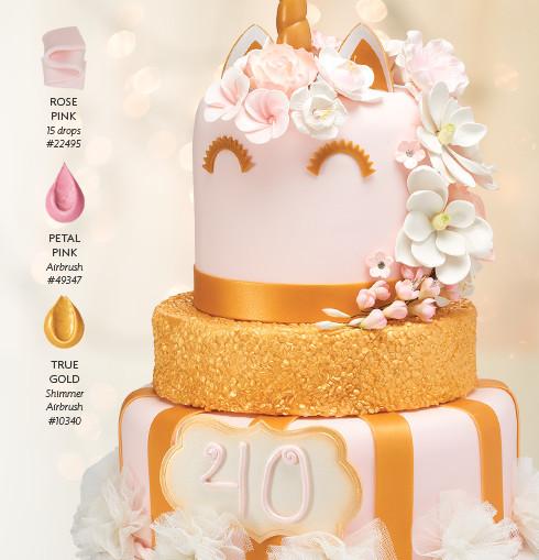 Unicorn Birthday Cake Design for Cake Decorators