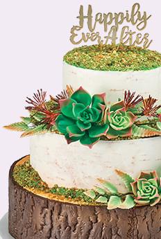 Nature Wedding Theme Cake for Cake Decorations