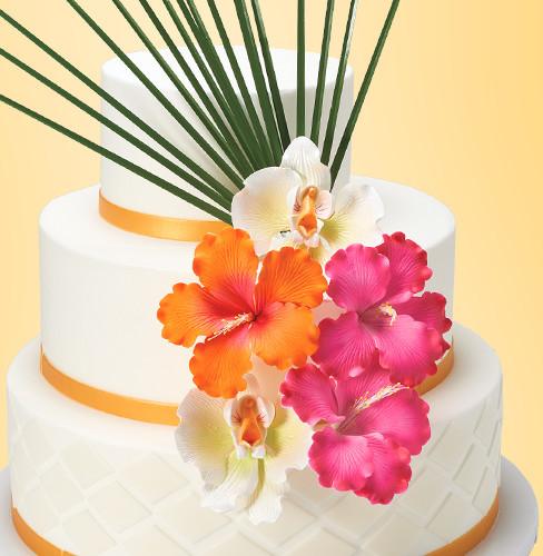 Tropical Wedding Cake Design for Cake Decorations