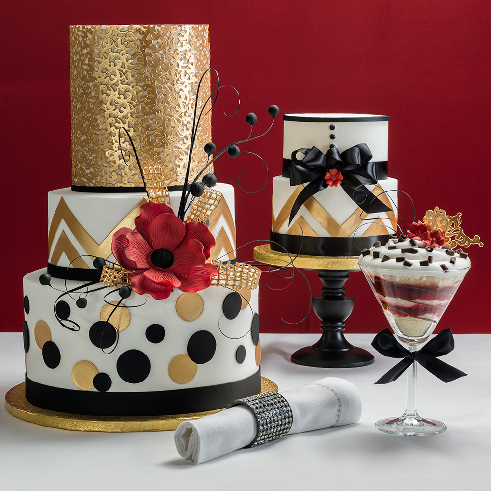 Bold Metallic Wedding Cakes