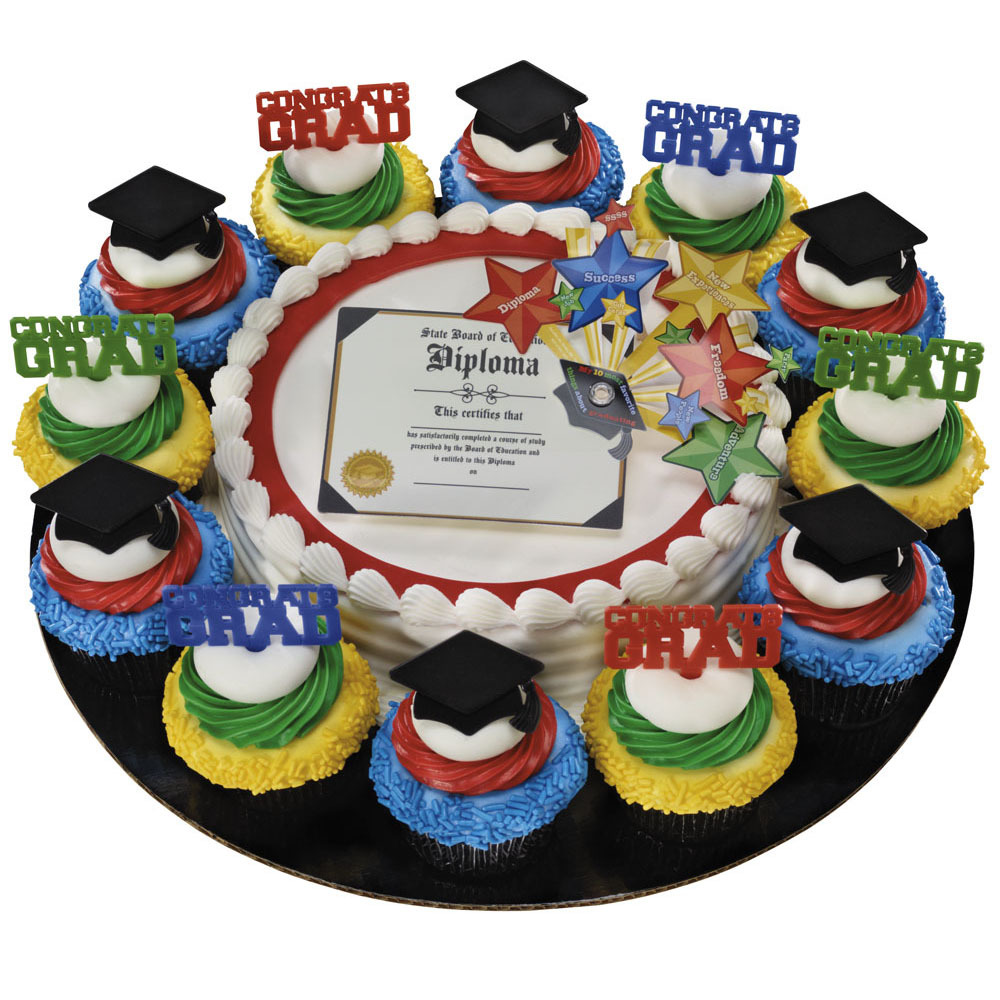 Bright Star Diploma Layon Cupcake Combo