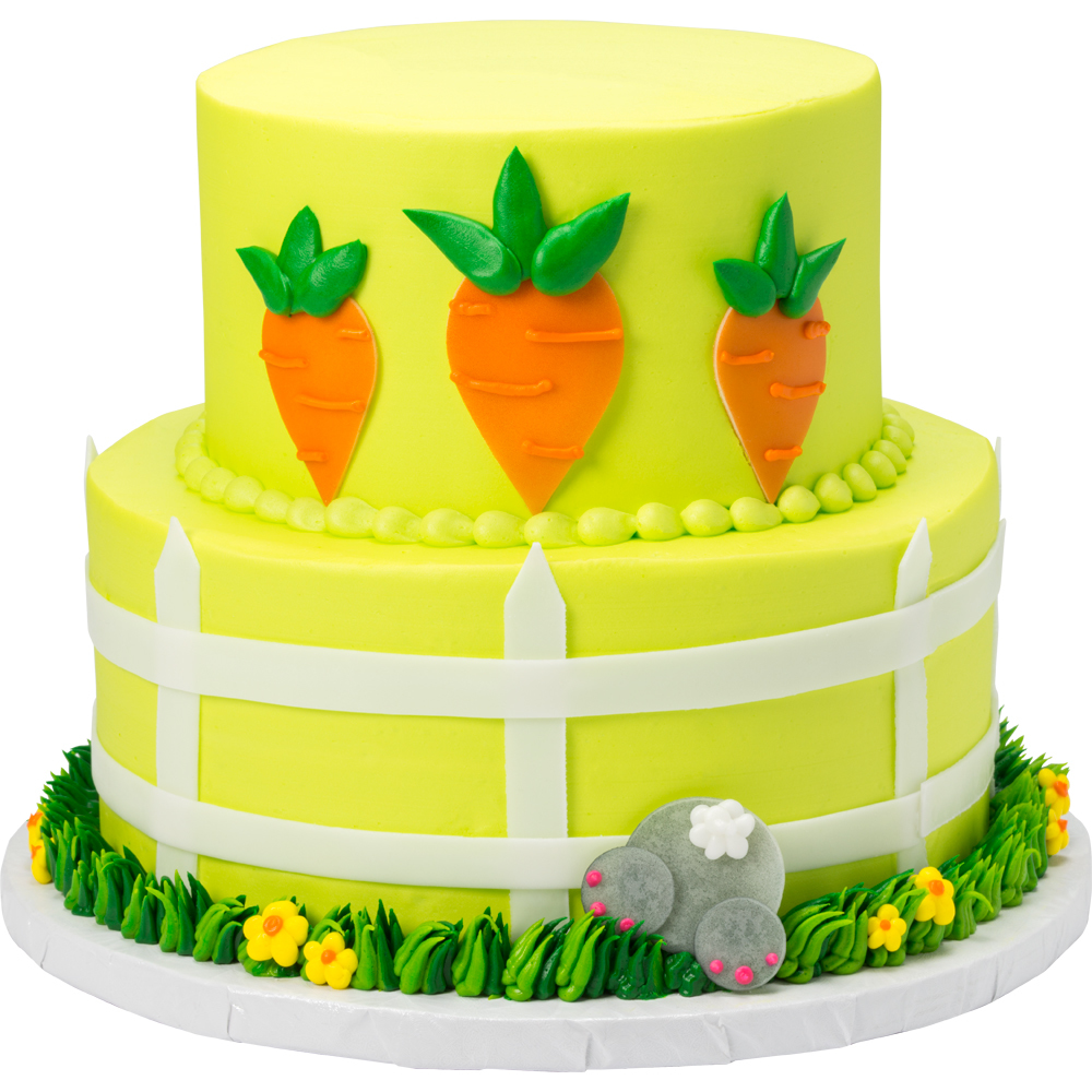 Carrot Garden Stacked Cake Decoration