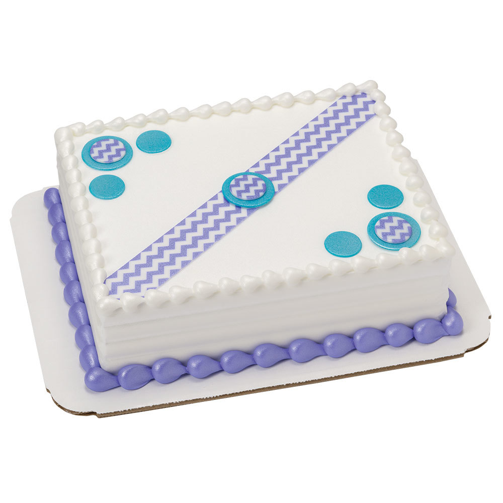 Celebration Dots DecoShape 1/8 Sheet Cake